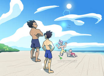 beach day with the kids by TheUltimateEnemy