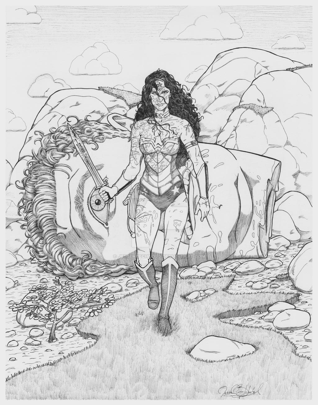 Wonder Woman by jessehbechtold