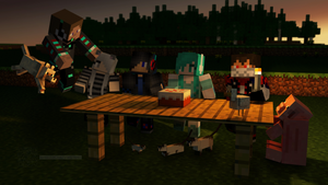 Minecraft -Living with friends