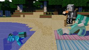Minecraft (Danok spy girls  n_n)