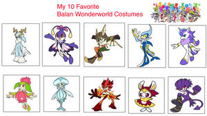 My top 10 Fav Balan Wonderworld Costumes