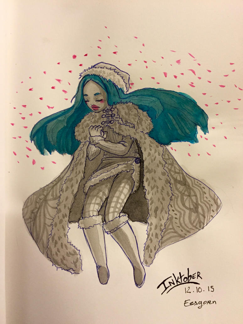 Inktober - Blue Doll by Eesgorn