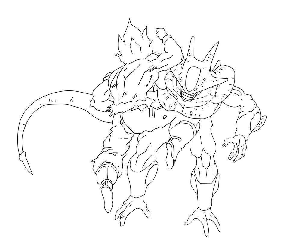 Vegeta Para Colorear Baby Para Goku Y Vegeta Para Pintar: Goku Vs Cooler Sketch By Nachomaan On DeviantArt