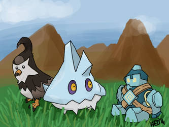Pokemon in training by hed854k
