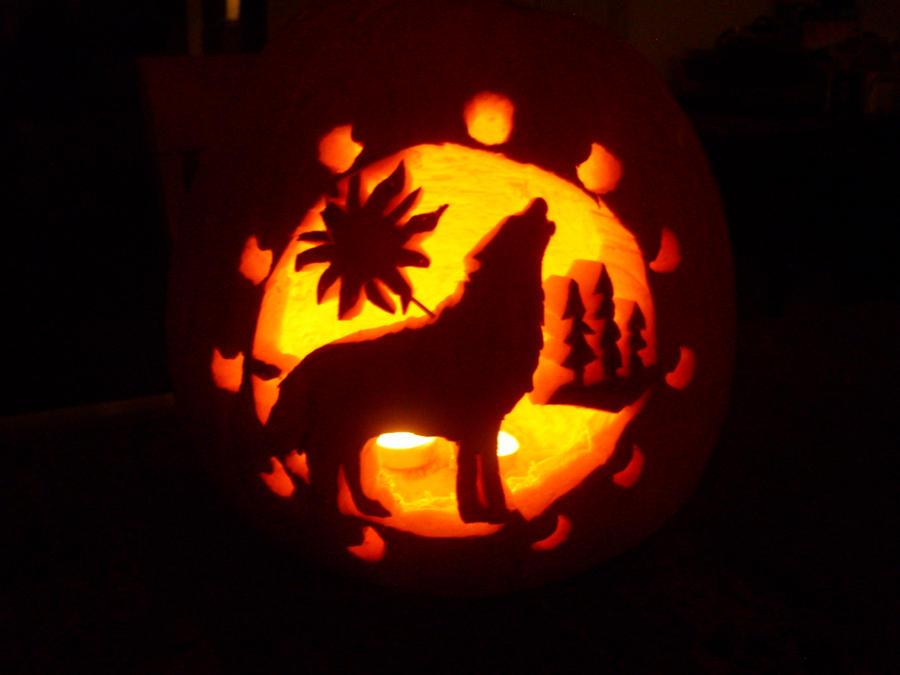 Wolf pumpkin by zoge on deviantart