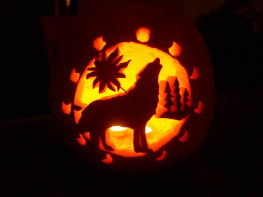 Wolf pumpkin by zoge on deviantart