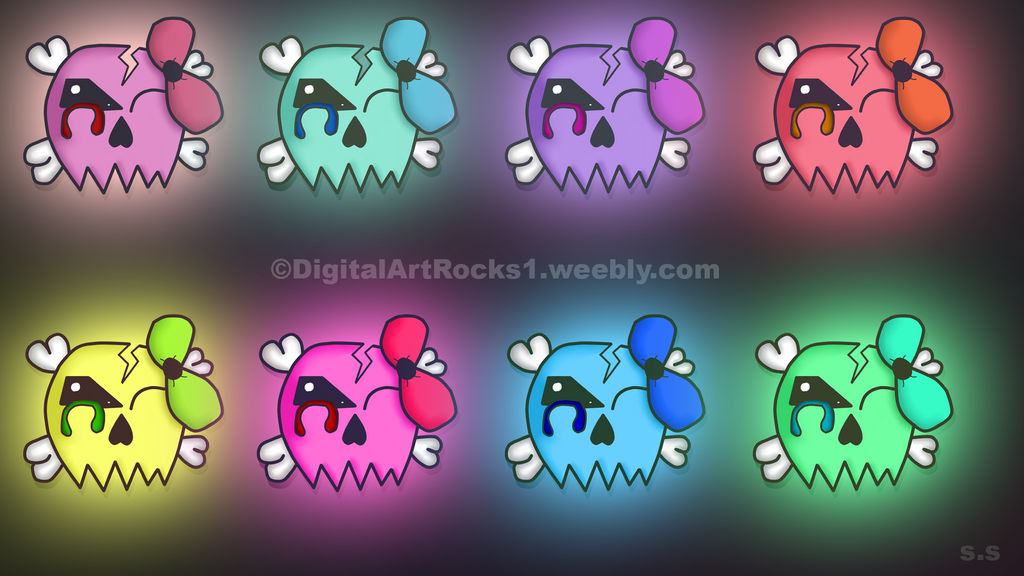 Girly Skull Wallpaper By Brokenchains2000 On Deviantart
