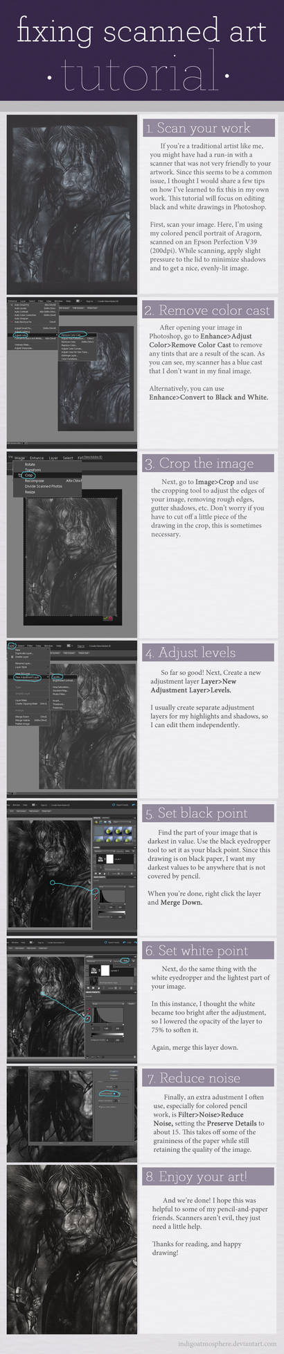 Tutorial - Fixing Scanned Art
