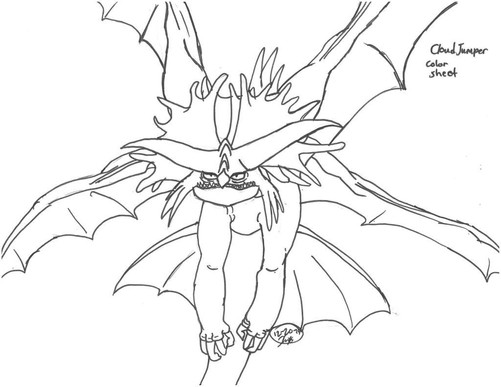 How To Train Your Dragon 2 Coloring Pages Alpha CloudJumper Color Sheet By KISSEricFoxRockNRoll On DeviantArt