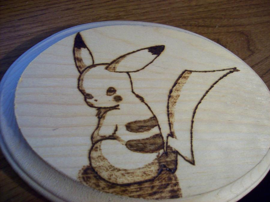 Pikachu wood burning by mydnyt02 on deviantart for Wood burning design ideas
