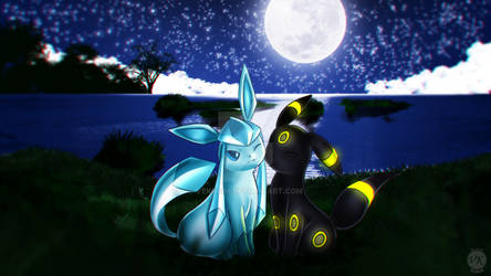 Commission Glaceon and Umbreon