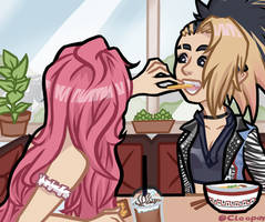 Just Gal' Pals Sharing Food [Seraphine x Akali] by Cleopay