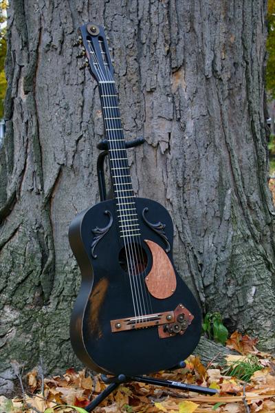 Steampunk Guitar by Maurautius
