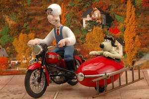 Wallace and Gromit Motorbike and Sidecar Airfix by Pyranose