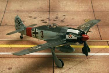 1/72 Fw 190 A7 Hasegawa 2./JG1 Dortmund by Pyranose