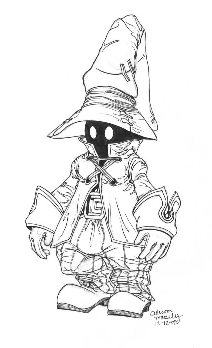Vivi final fantasy 9 by themoseali on deviantart for Final fantasy coloring pages