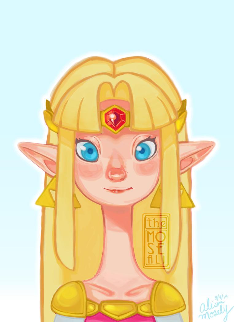Princess Zelda by TheMoseali