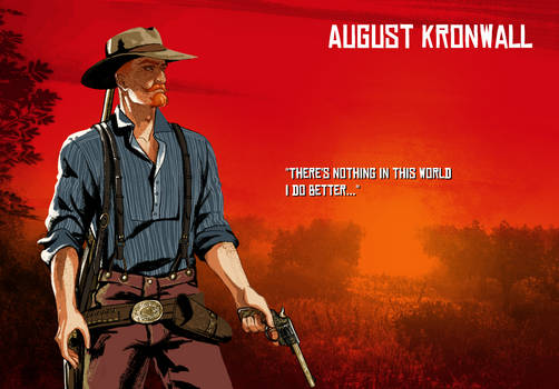 August Kronwall Red dead poster thingy