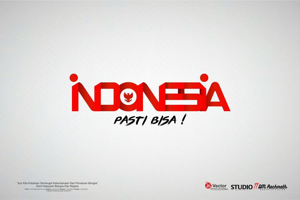 hut ri 72 logo text indonesia pasti bisa by imahkudesain