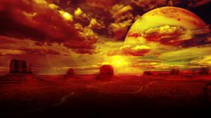 Jupiter Over the Desert