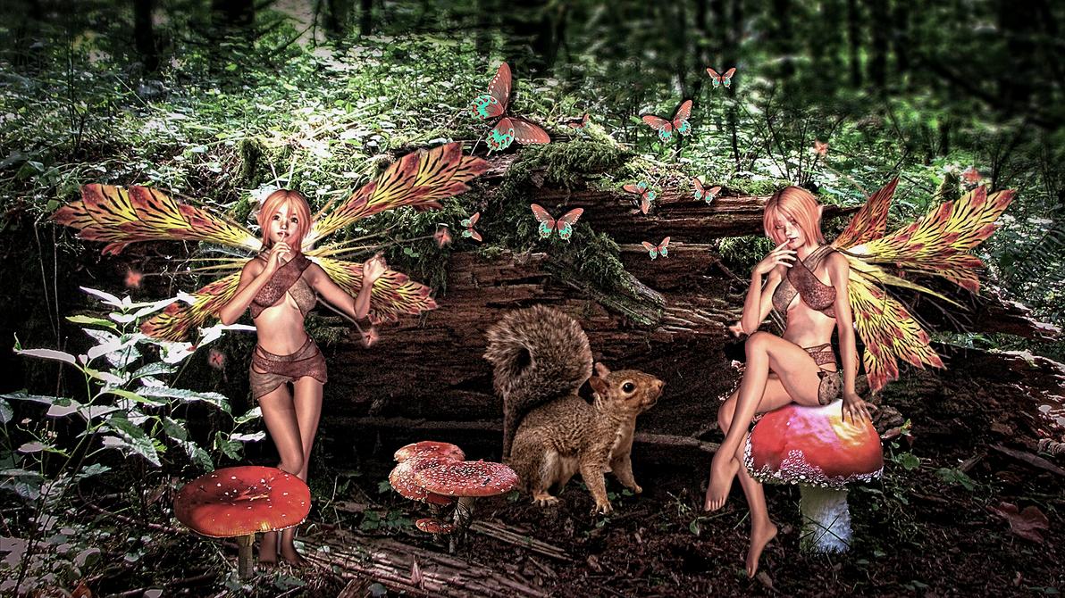 Woodland Fairies by kado897