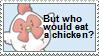 Harvest moon Chicken Stamp by odihemay6