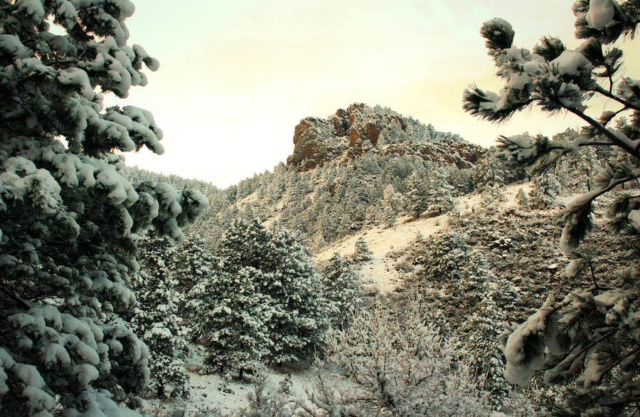 Arthur's Rock after Snowfall by mixtapes-of-love