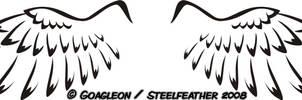 Wings Tattoo by Goagleon