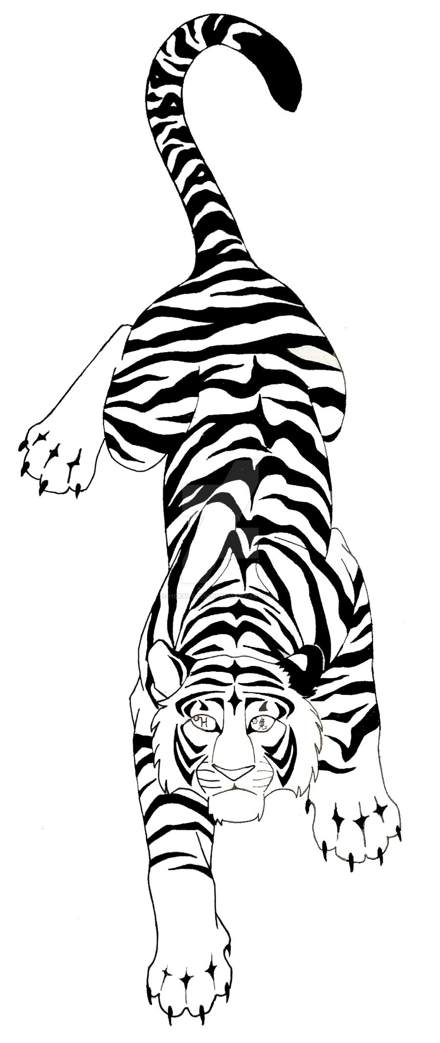 tiger tattoo commish wip by hekatelesedi on deviantart. Black Bedroom Furniture Sets. Home Design Ideas