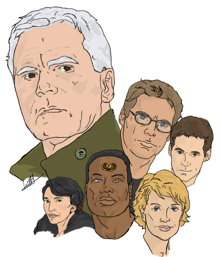 Stargate SG-1 10 year cast by wernerth