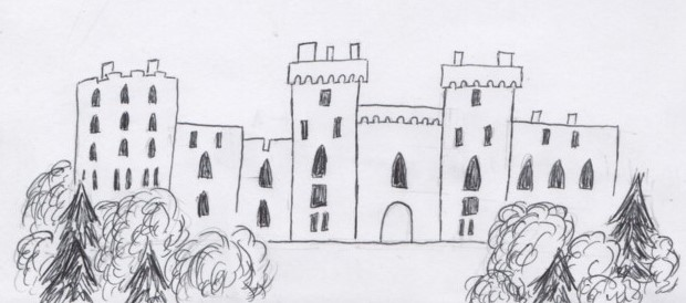Drawing Challenge Day 8- Castle by rboy42