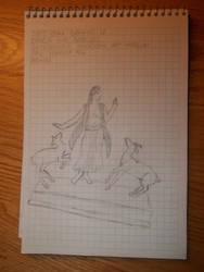 Drawing 12- Dancer and Gazelles by NerdyRabbitCreations