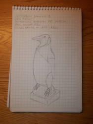 Drawing 13- King Penguin by NerdyRabbitCreations