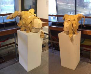 Wooden Mummified Dragon Head by NerdyRabbitCreations