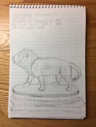 Drawing 17- Walking Lion by NerdyRabbitCreations