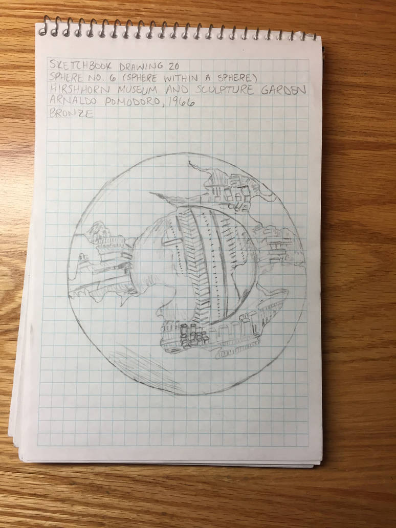 Drawing 20- Sphere No. 6 (Sphere within a Sphere) by NerdyRabbitCreations