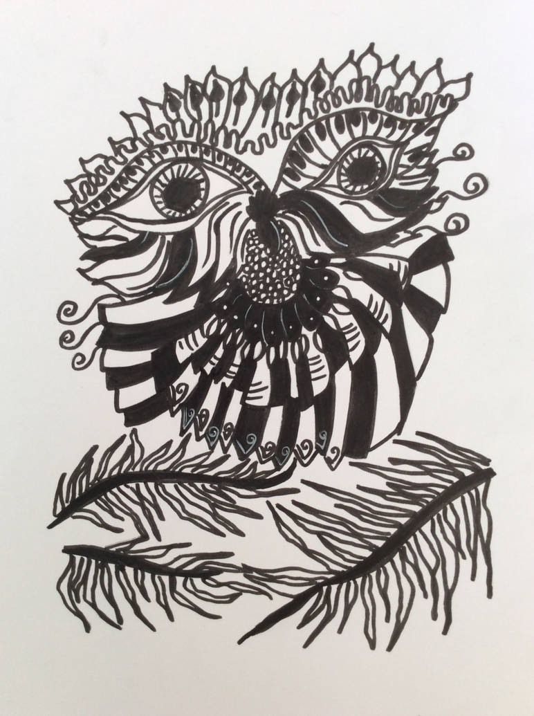 Black and white Owl by Cat-Anna