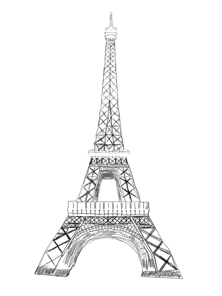Line Art Eiffel Tower : Eiffel tower by ezrianna on deviantart