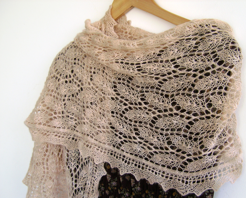 Knitting Patterns For Lace Stoles : Hand knitted lace stole by MadelinesWardrobe