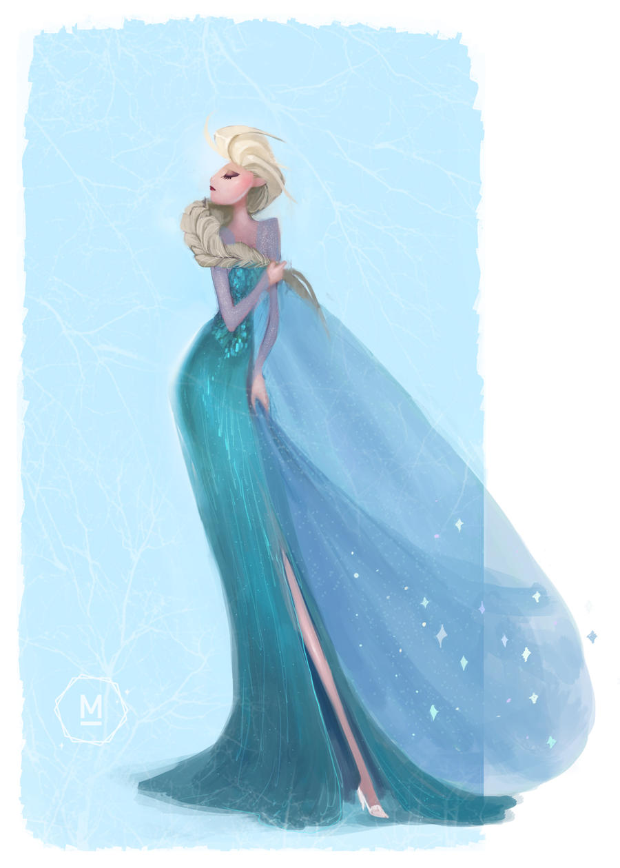 Elsa The Snow Queen by i-am-MOKEY