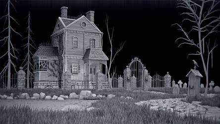 Haunted House_bw