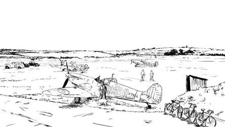 RAF Airfield (ink)