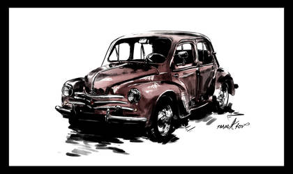 Renault 4 CV by Fisher22