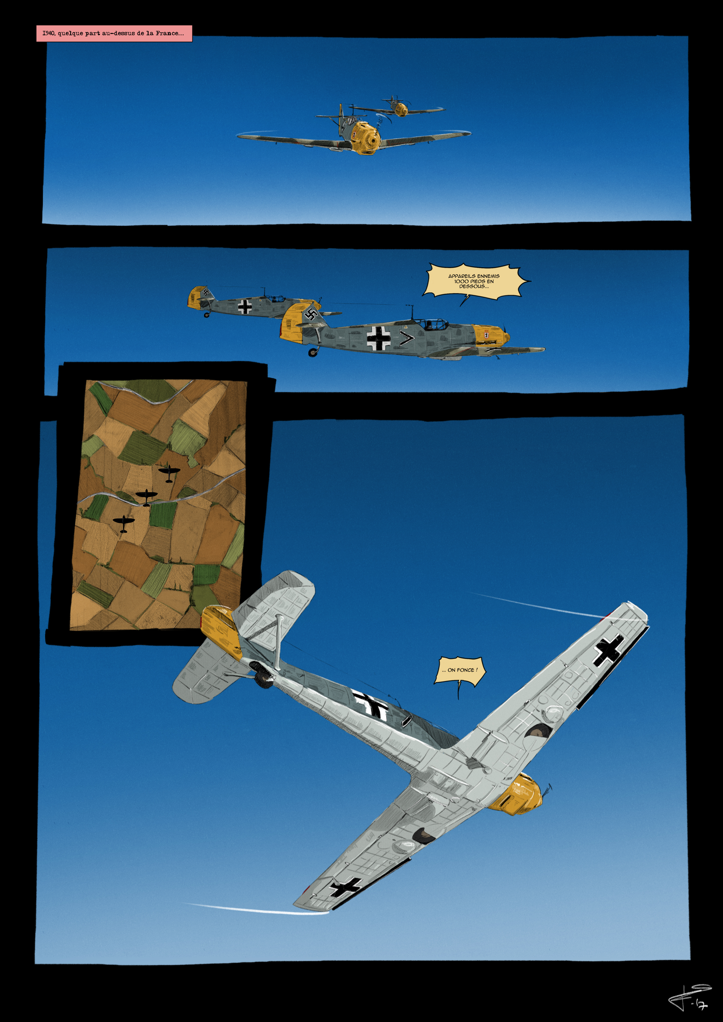 BF-109 patrol by Fisher22