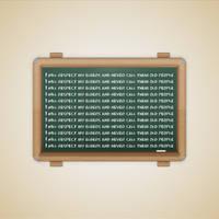 School Chalkboard Message by duceduc
