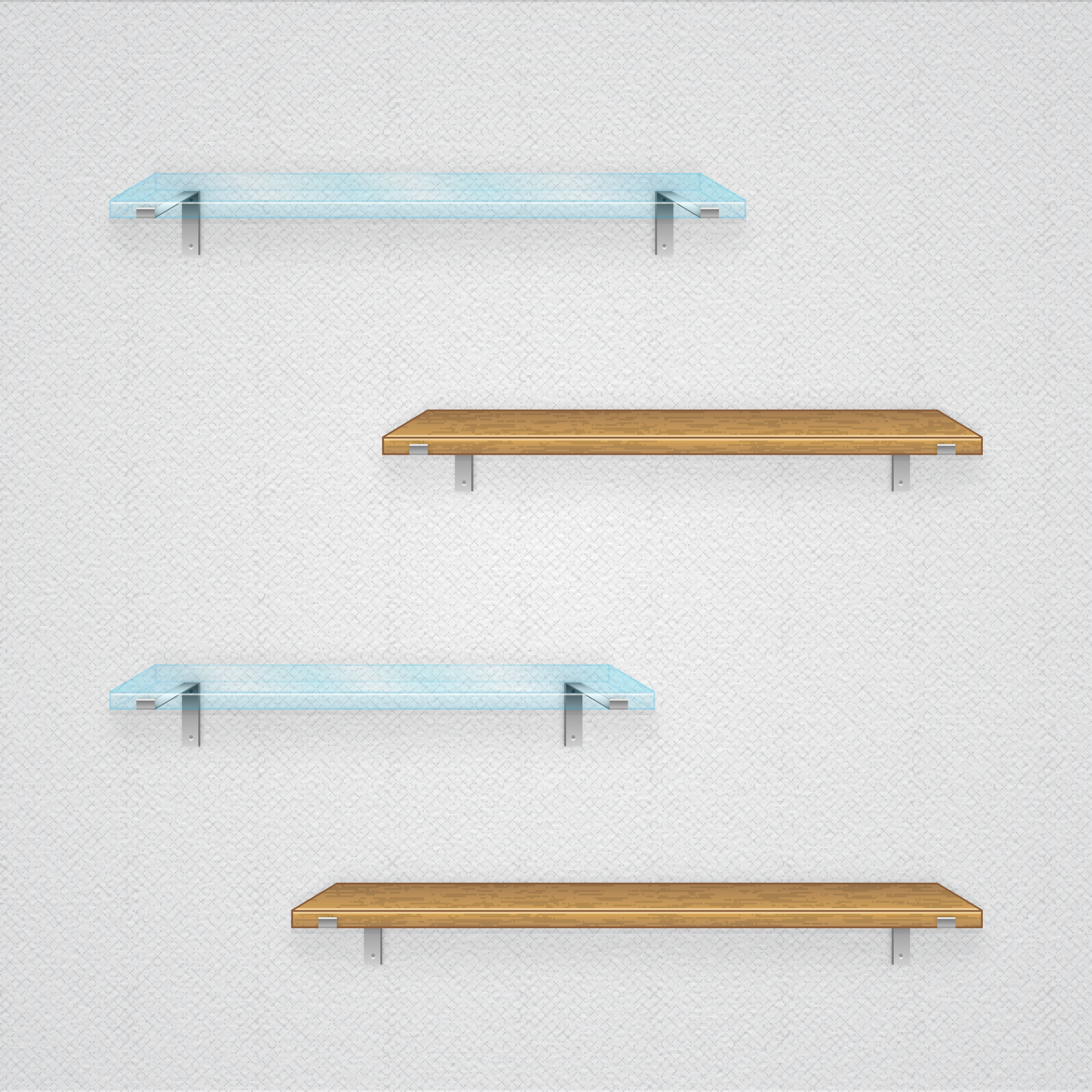 Glass and Wooden Shelves by duceduc on DeviantArt