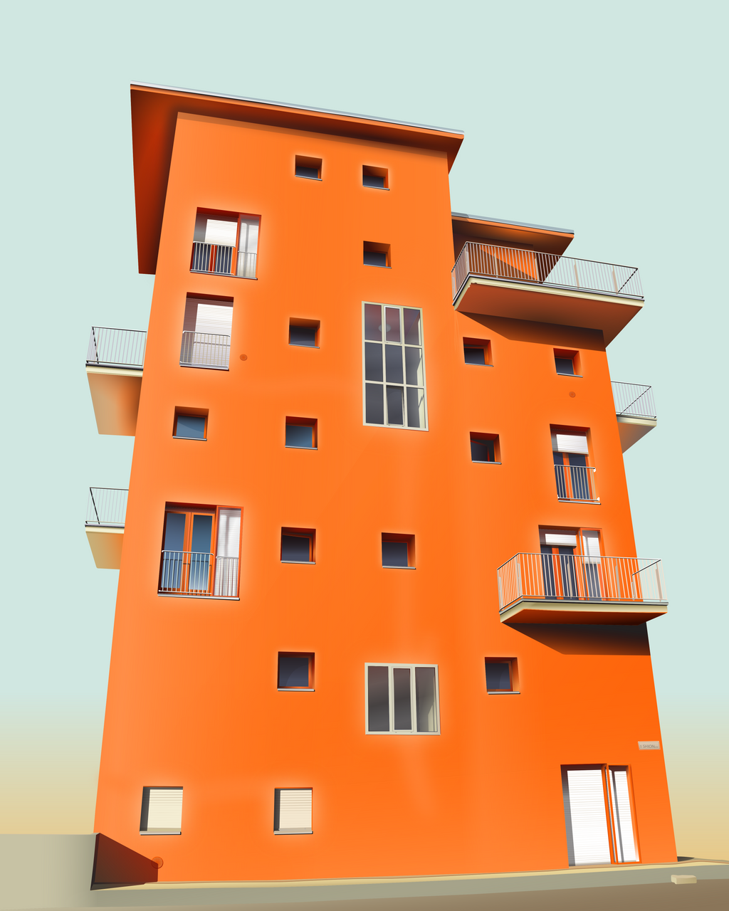 Apartment building illustration apartment building stock for Apartment design vector