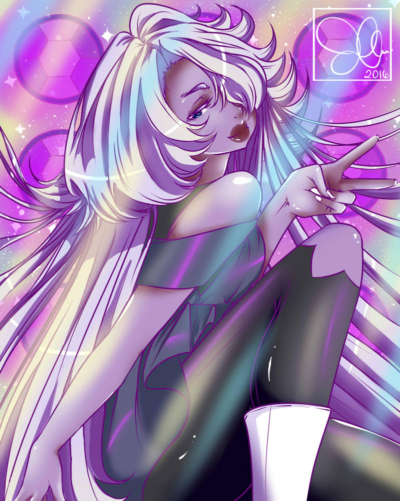 Anime Amethyst from Steven Universe I do not own this character. Art by MooGee30 Please do not trace, repost, steal ,copy thank you.