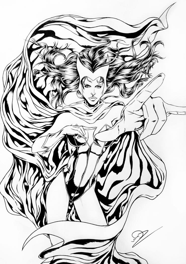 Scarlet Witch inks by N-o-X-i-S18 on DeviantArt