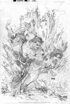 Superman 211 Cover Pencils
